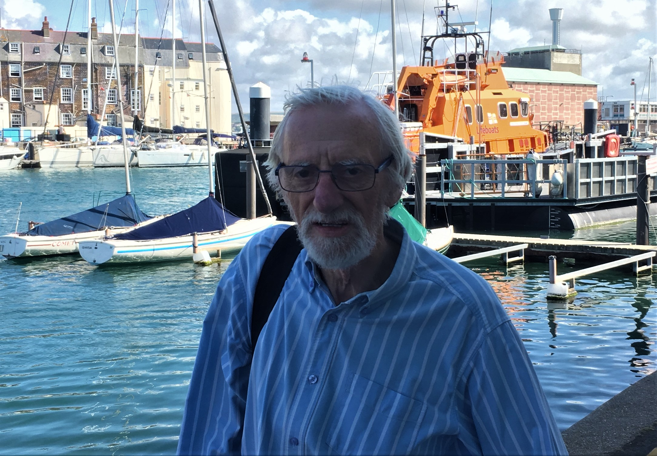 Rob Michael former chair of Weymouth lifeboat station