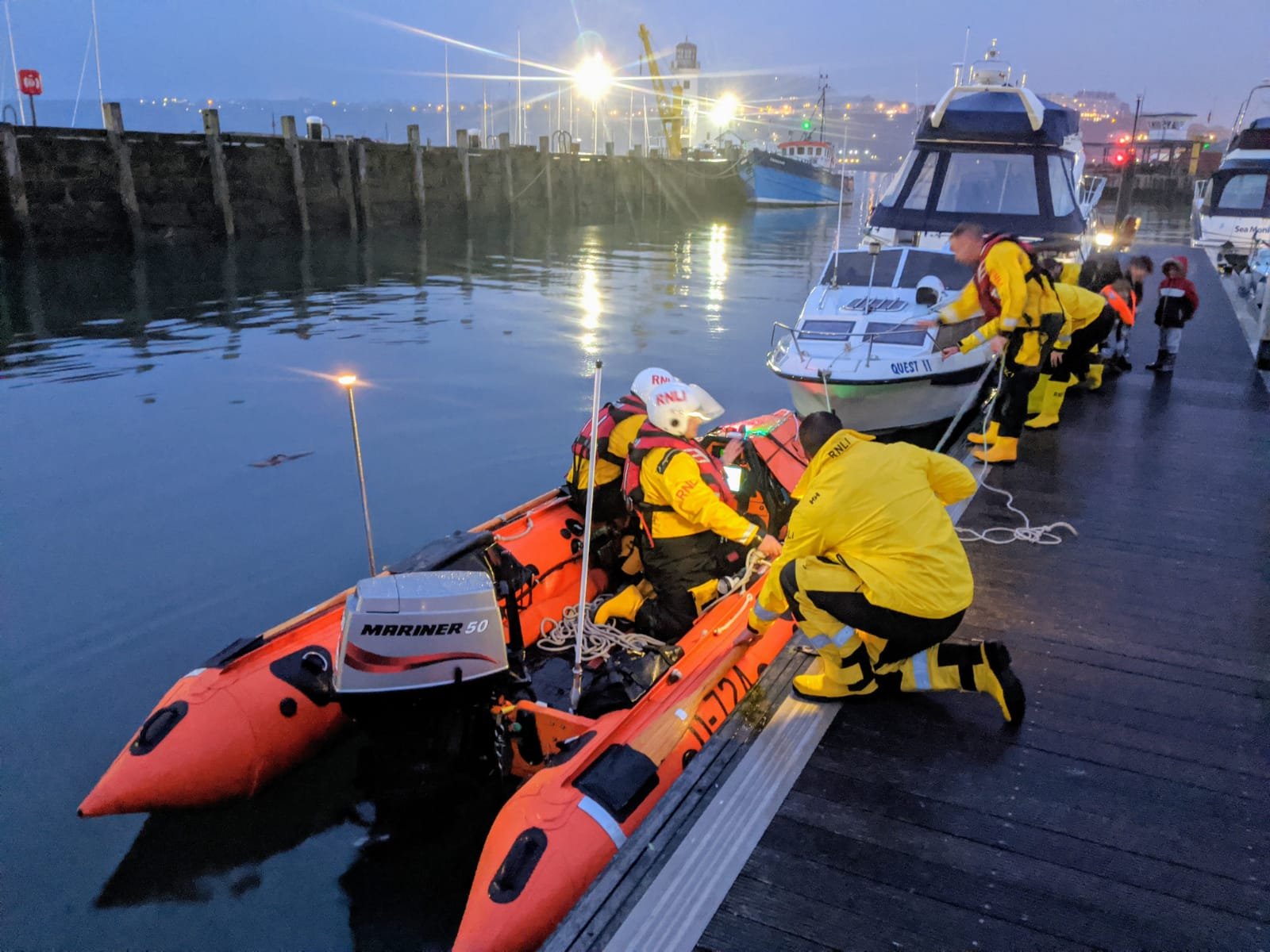 Christmas Eve shout for Scarborough RNLI