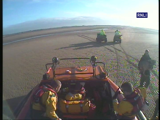 Hoylake Hovercraft was tasked to assist UK Coastguard with 2 lost dogs on Formby Bank. One dog had suspected injuries and was recovered with its owner to Formby by the Hovercraft.