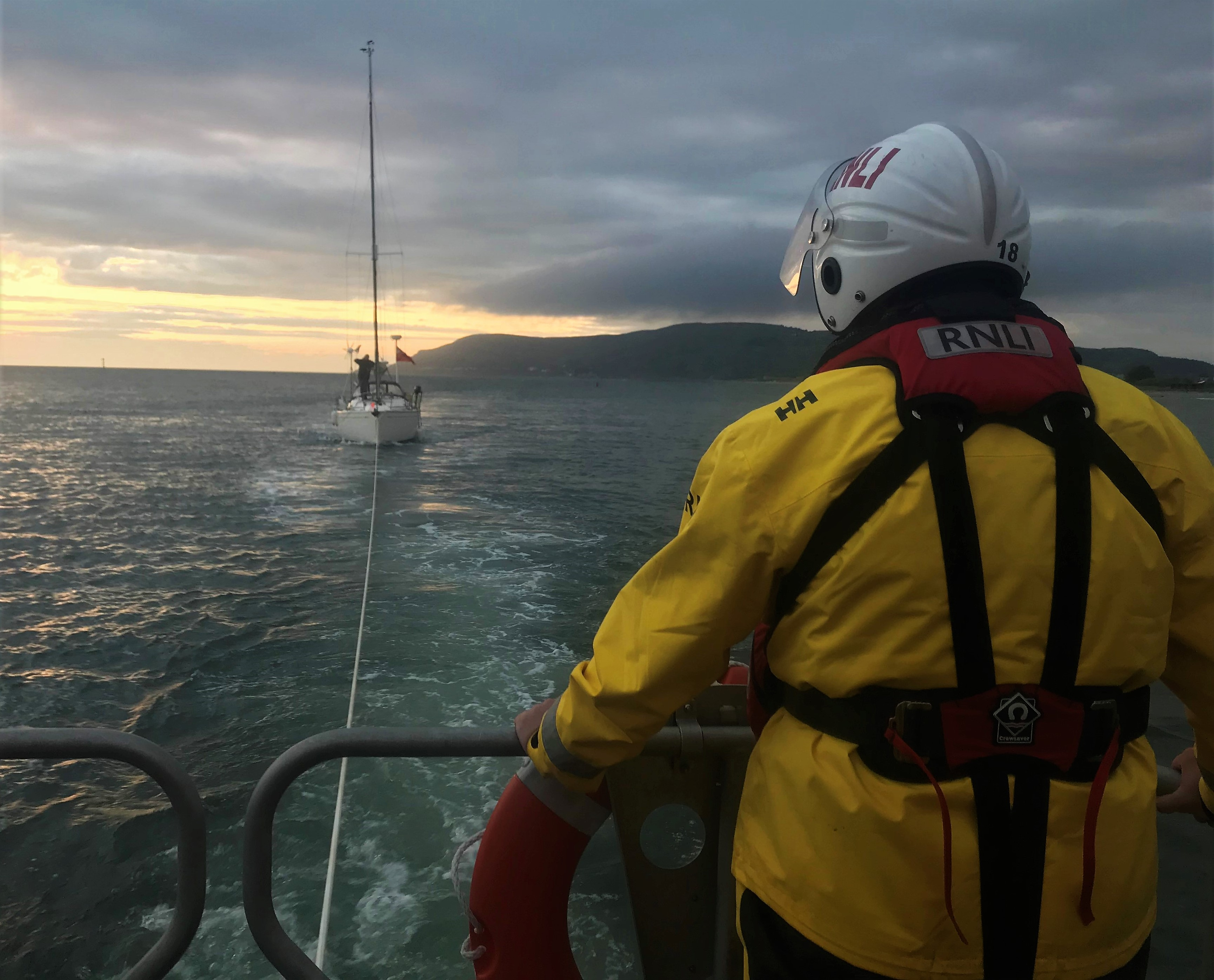 Llandudno's all-weather lifeboat William F Yates was called out by Holyhead Coastguard and launched at 7.36 pm Sunday to go to the assistance of a 30ft yacht which had encountered mechanical difficulties approximately three miles north of the Great Orme.