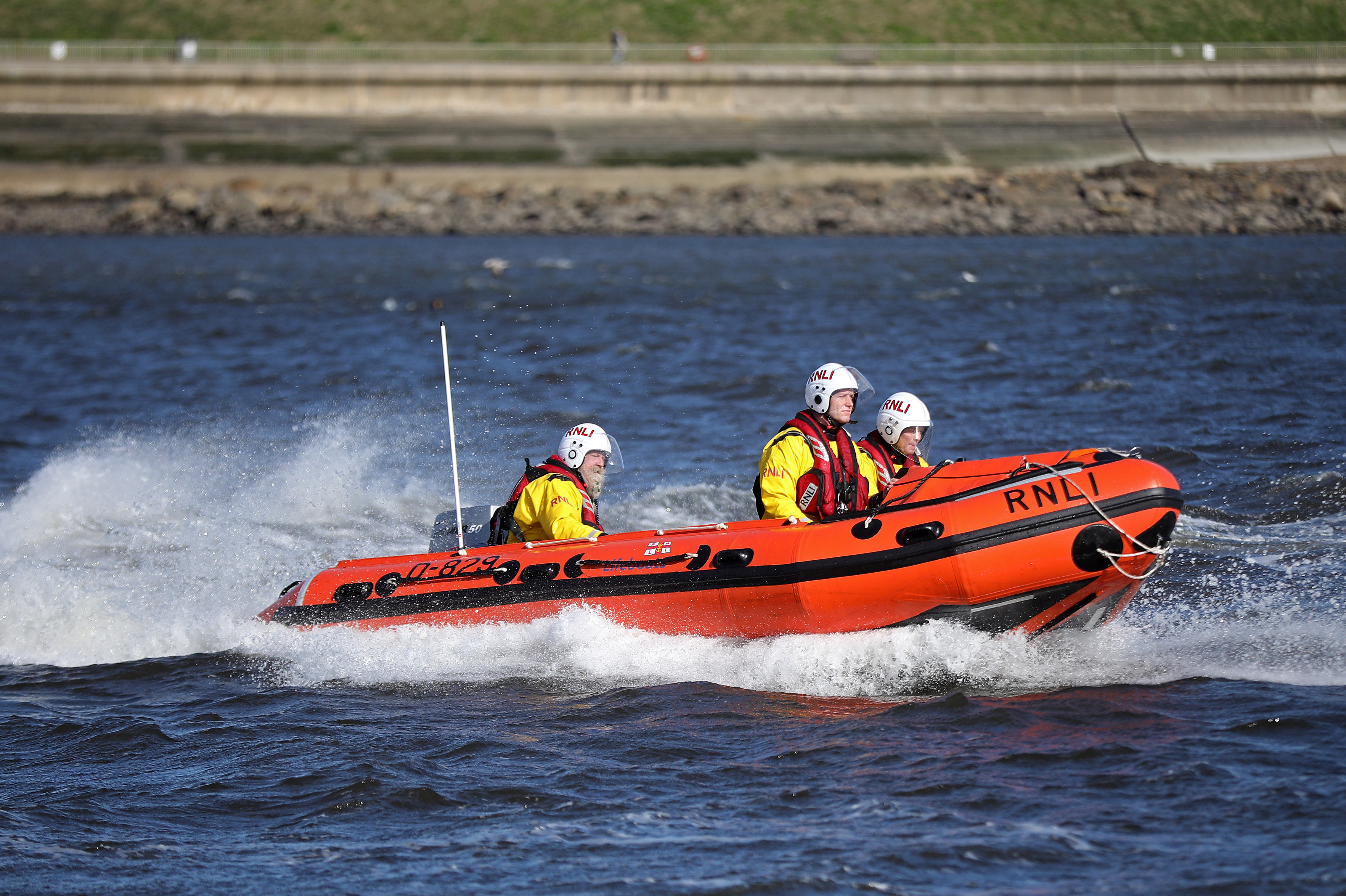 Stock image of Tynemouth RNLI's inshore lifeboat