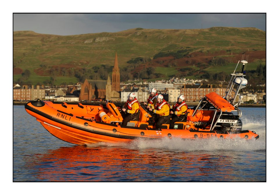 Largs Lifeboat R A Watson at speed