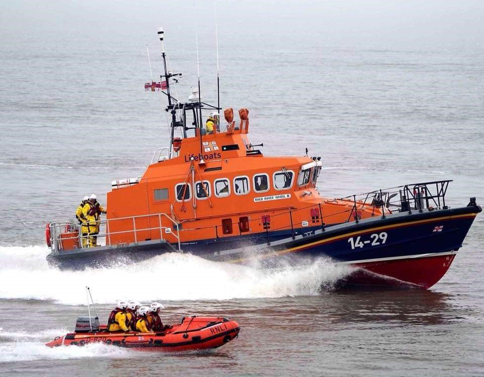 Barry Dock RNLI all-weather and inshore lifeboat