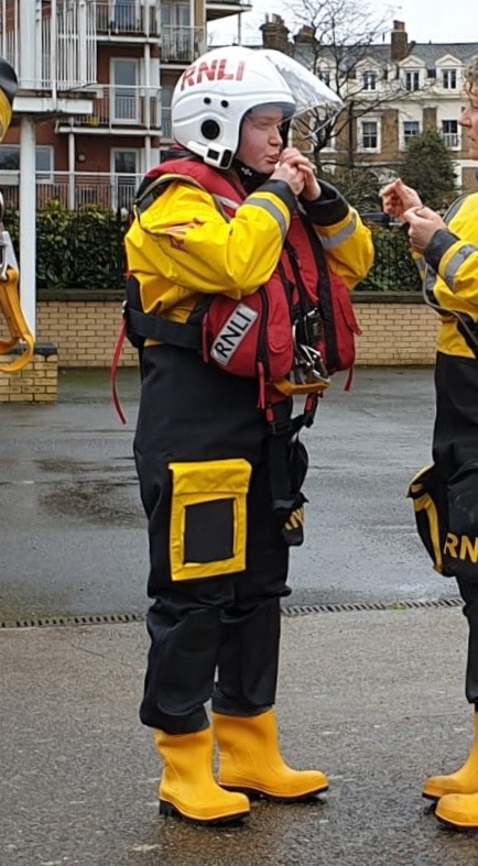 Grace Blackshaw prepares for her first Teddington RNLI Shout