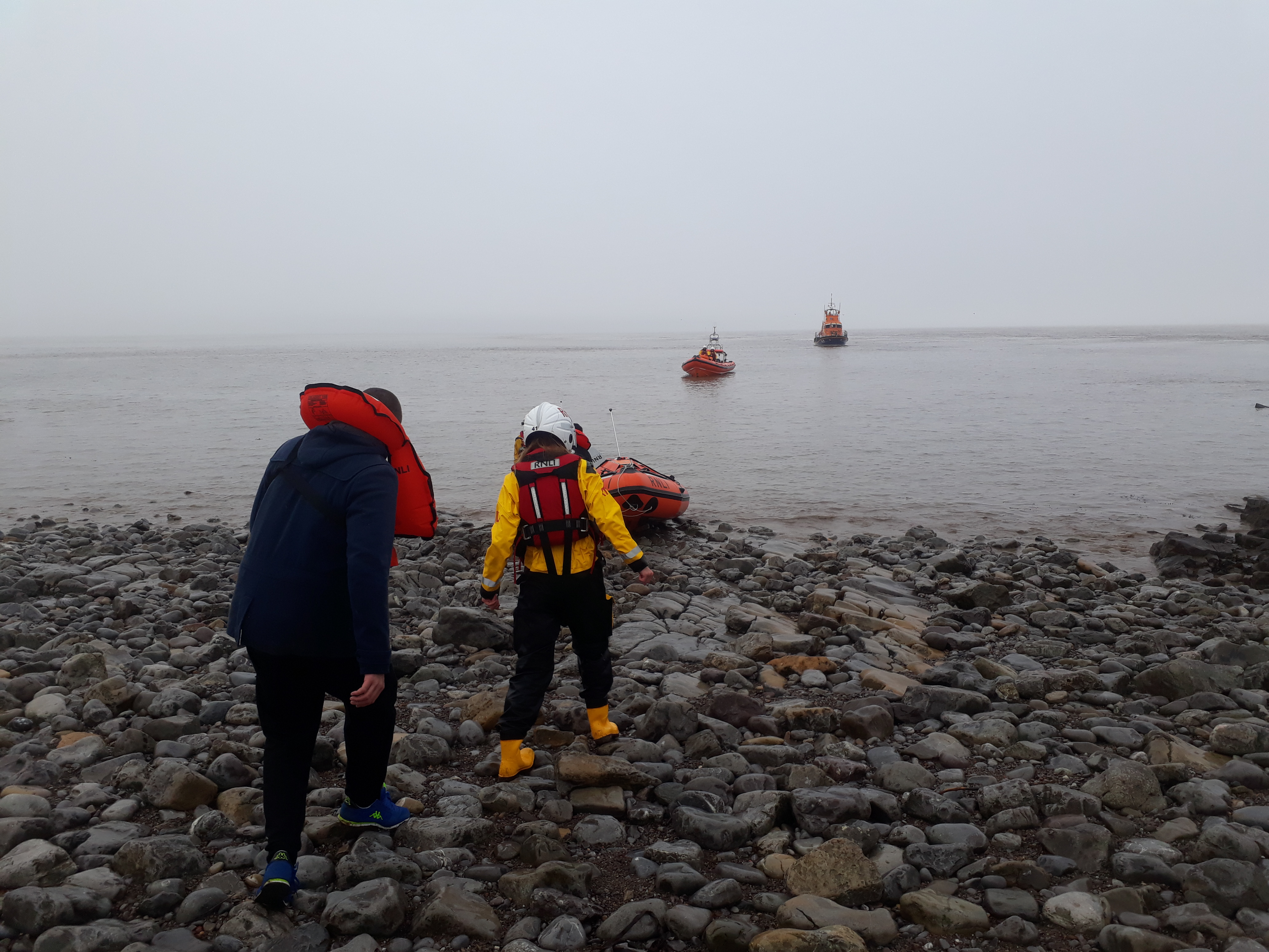 Three sailors have been found off Flat Holm Island after an extensive search this morning (Thursday 21 March) involving five RNLI lifeboats and HM Coastguard 187 helicopter.