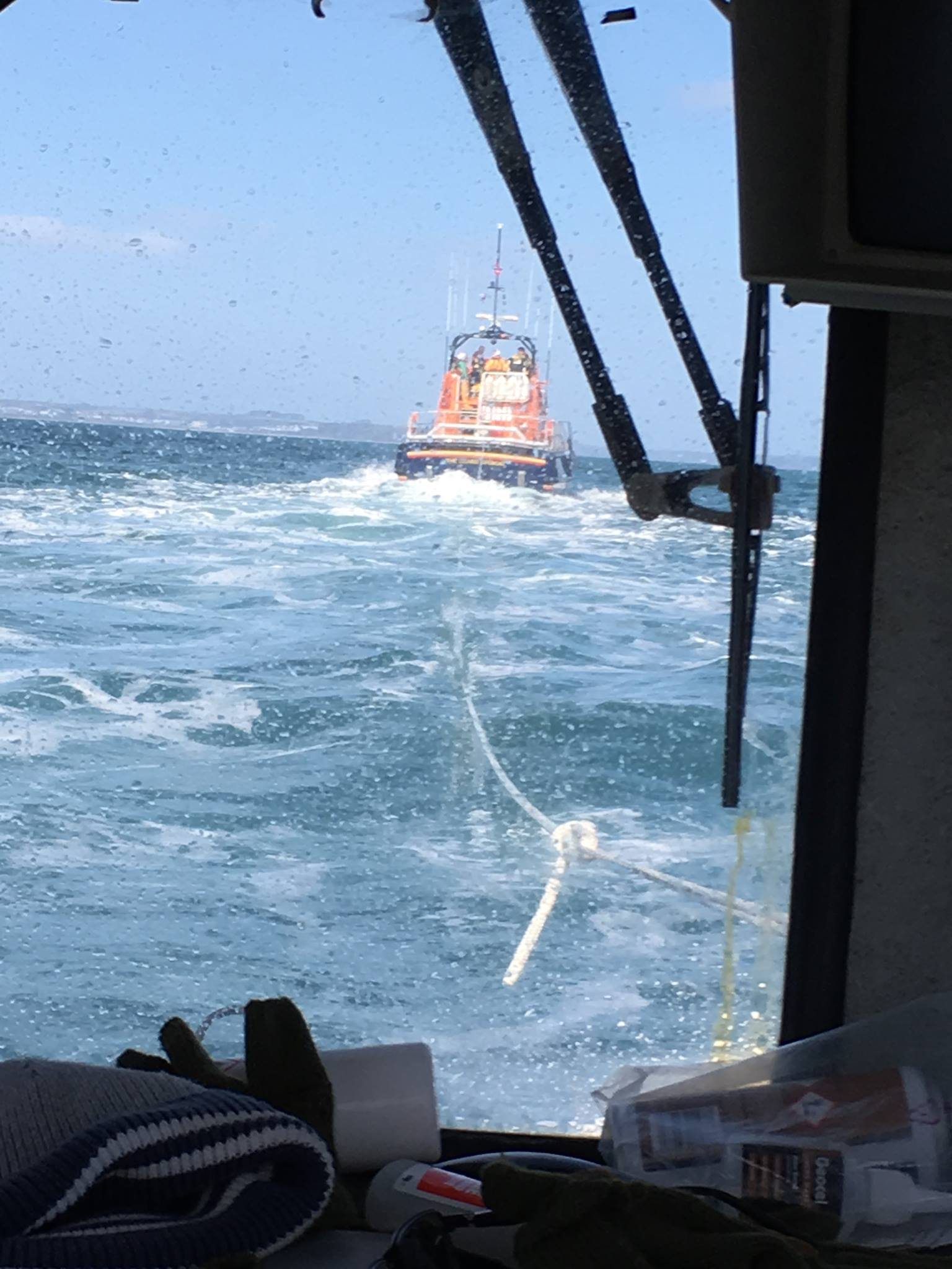 "View from fishing vessel on tow ""Gemini"""