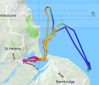 Track of RNLB Alfred Albert Williams