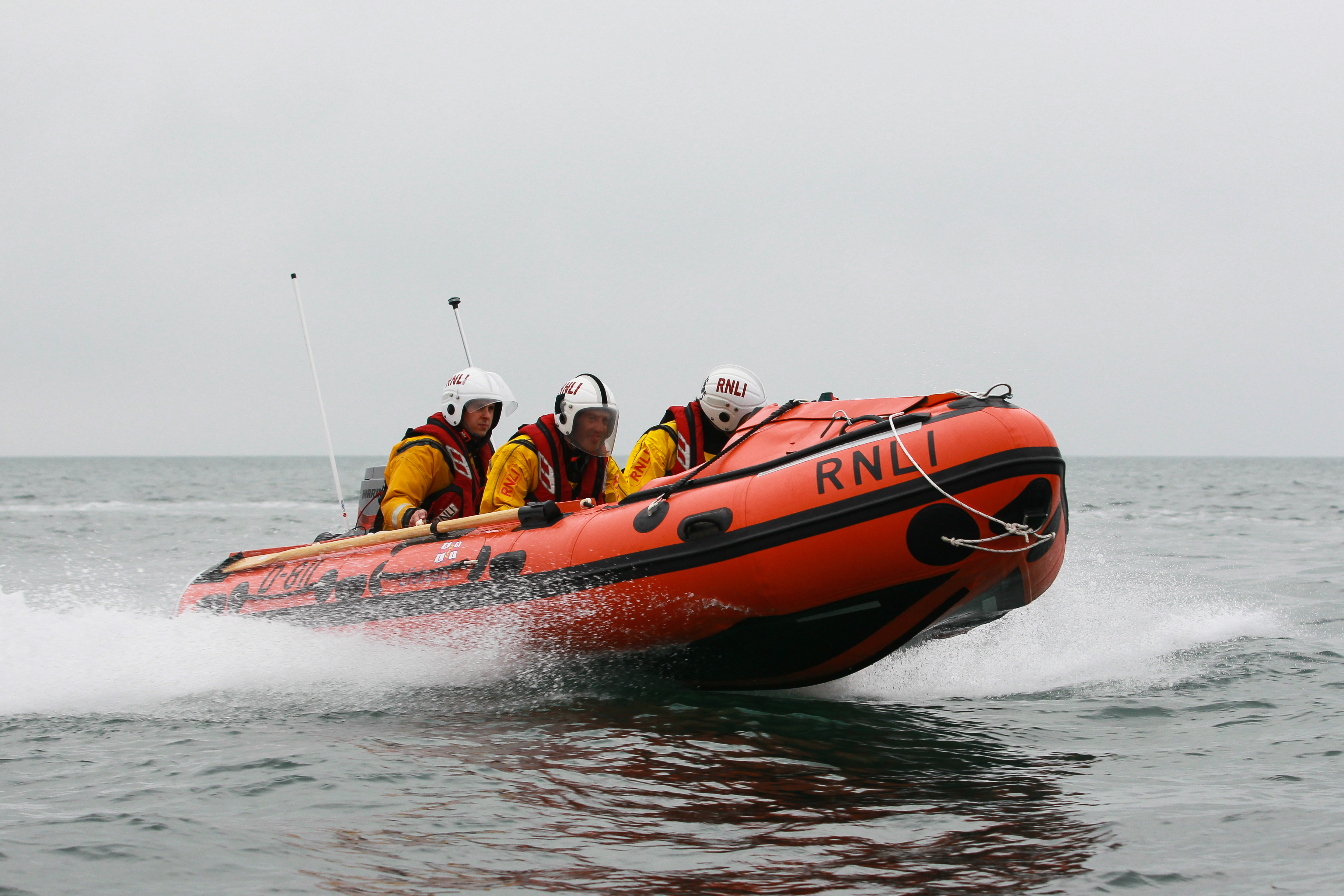 RNLI Inshore Lifeboat at sea