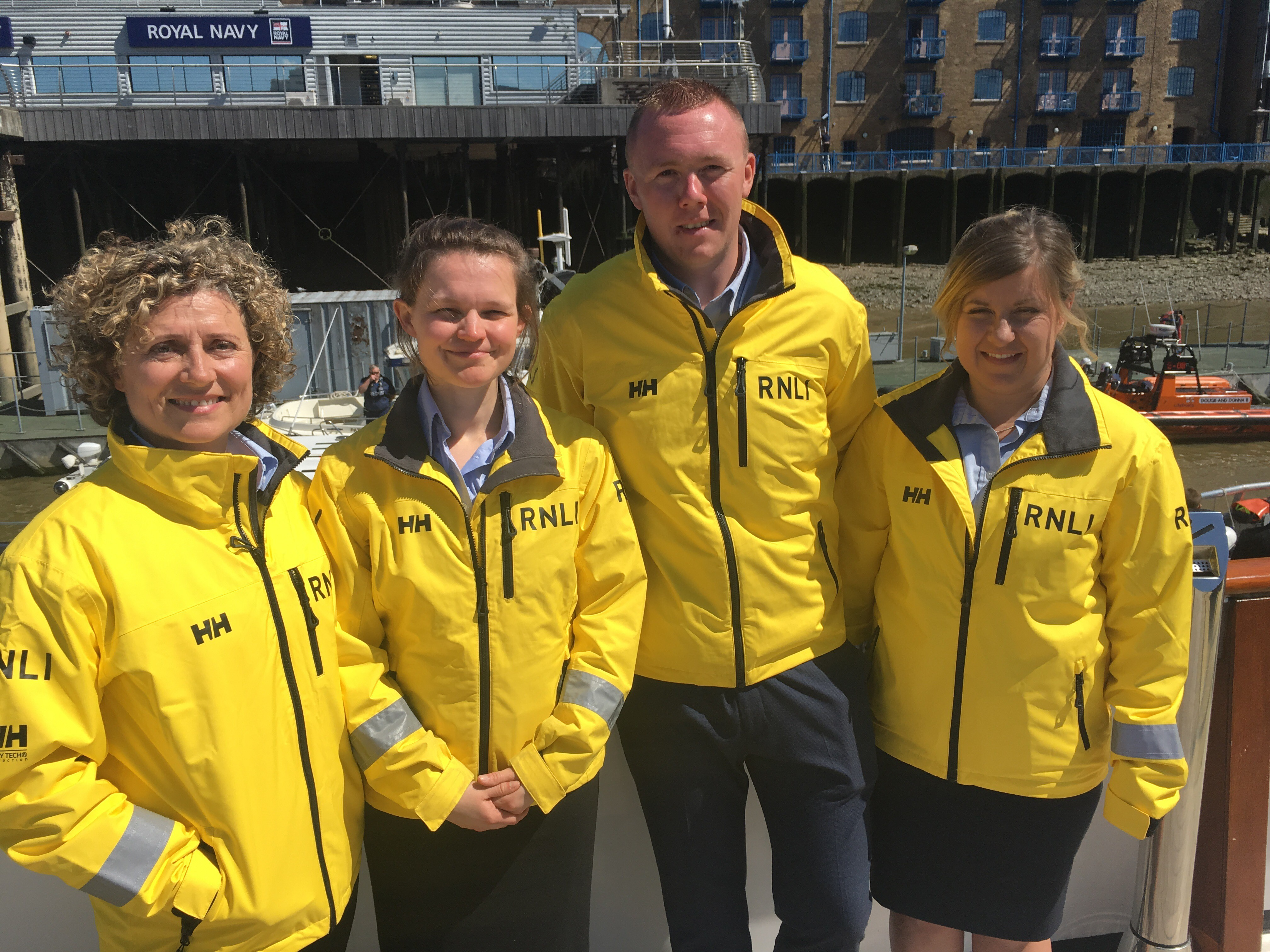 Gianna Saccomani (Teddington crew), Jenny Barnett & Steve Doherty (Tower crew) and Natalie Adams (Gravesend crew)