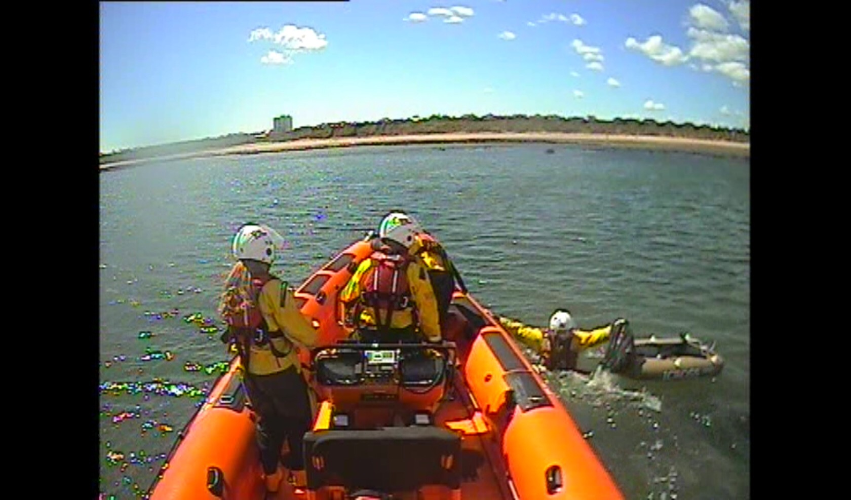 Cullercoats RNLI return the inflatable to it's owner