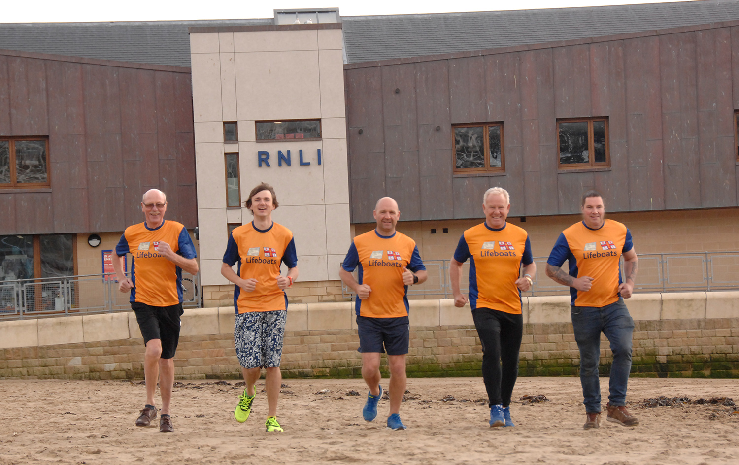 Some of the runners, L-R, Colin Woodhead, Matt Marks, Lee Marton, John Senior and Pete McGeown
