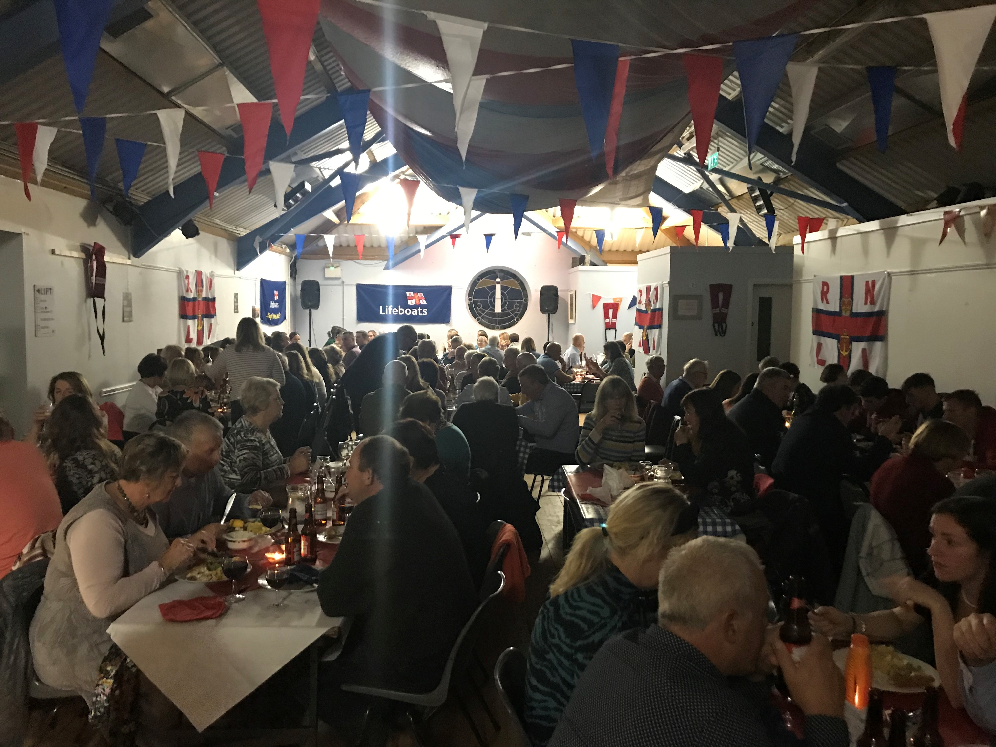 The crowd at Stella Maris Centre for the RNLI Fish Supper
