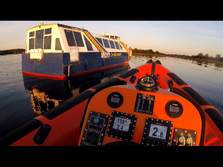 Carrybridge RNLI exercise with the passenger vessel, Inishcruiser