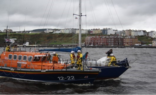 Peel RNLI on callout in challenging conditions