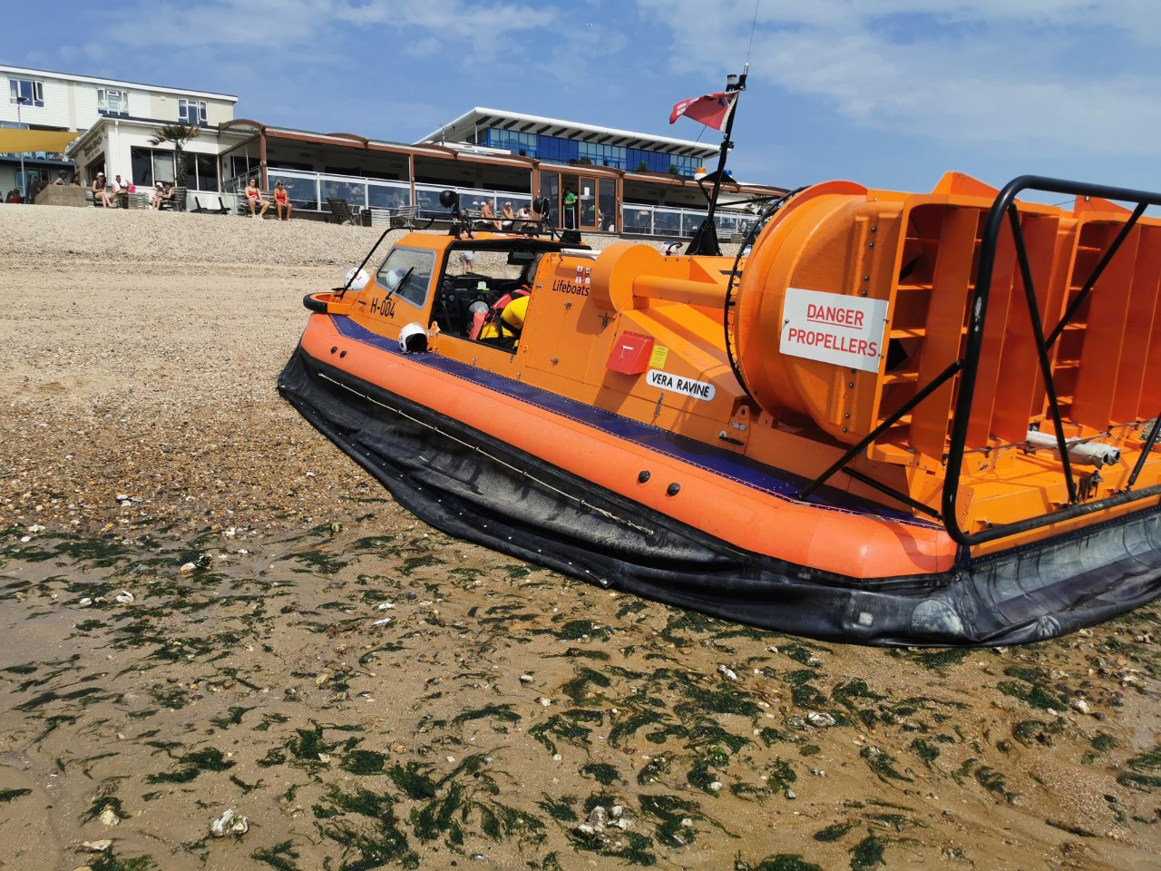 Southend RNLI's hovercraft on the beach