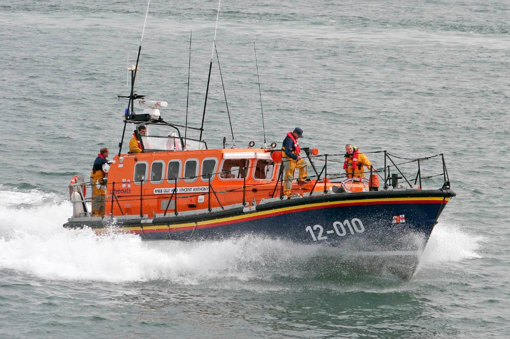 Pwllheli RNLI are saddened by the passing of crew member Barry Davies (pictured front right