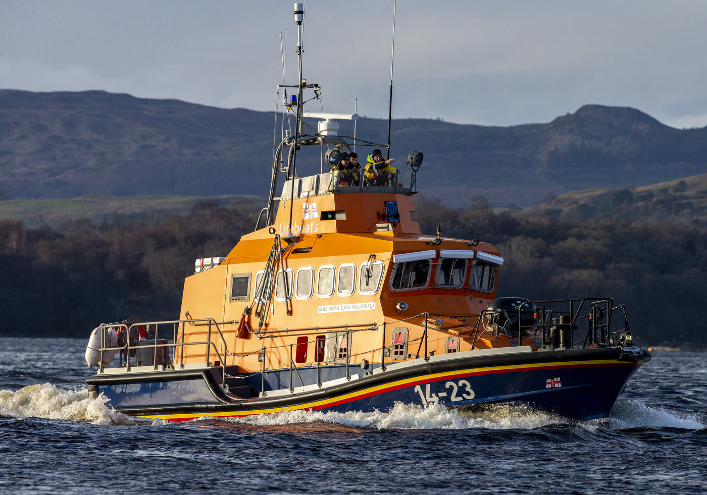 Oban Lifeboat searching for missing kayakers