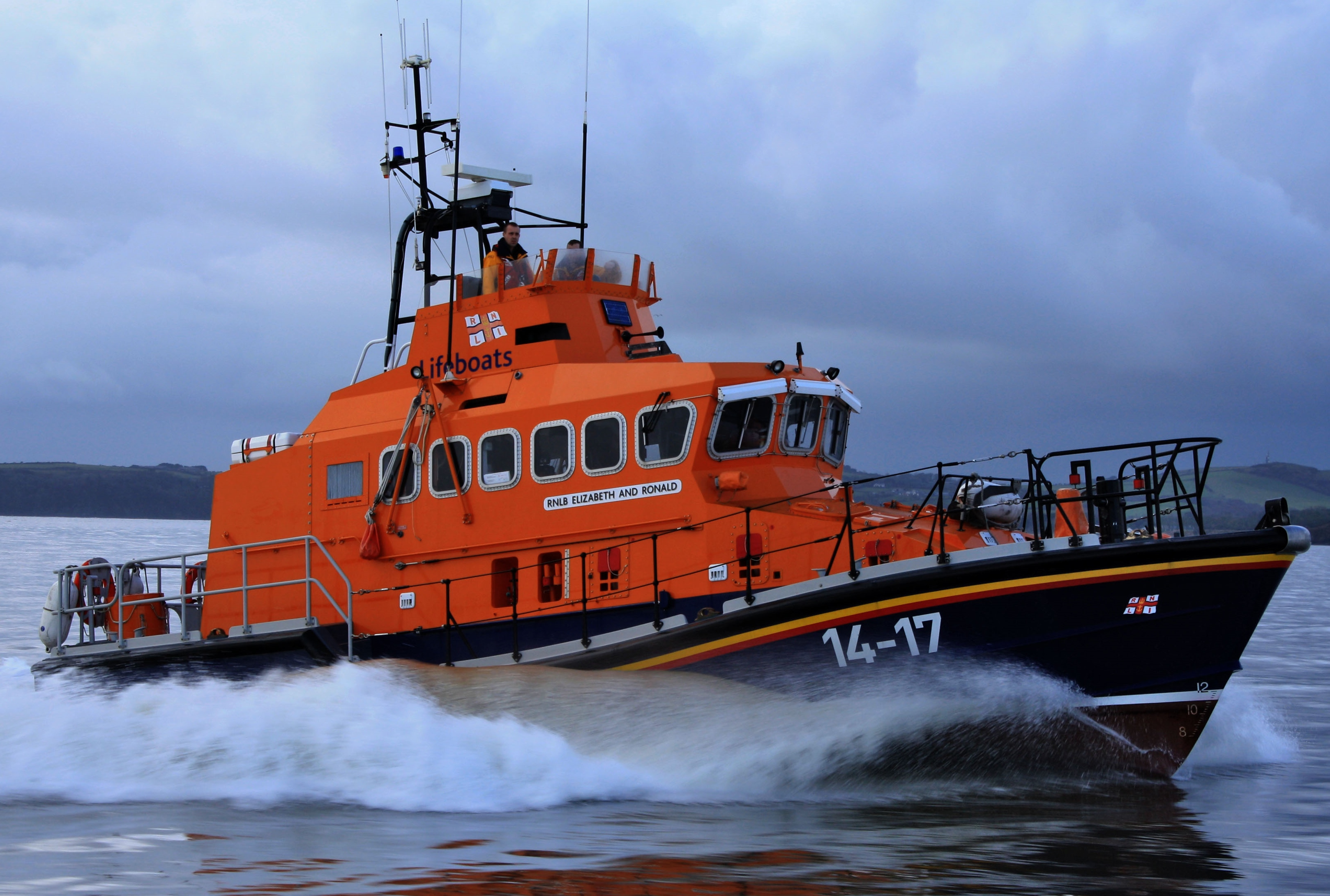 Dunmore East RNLI on excerise of the south-east coast of Ireland
