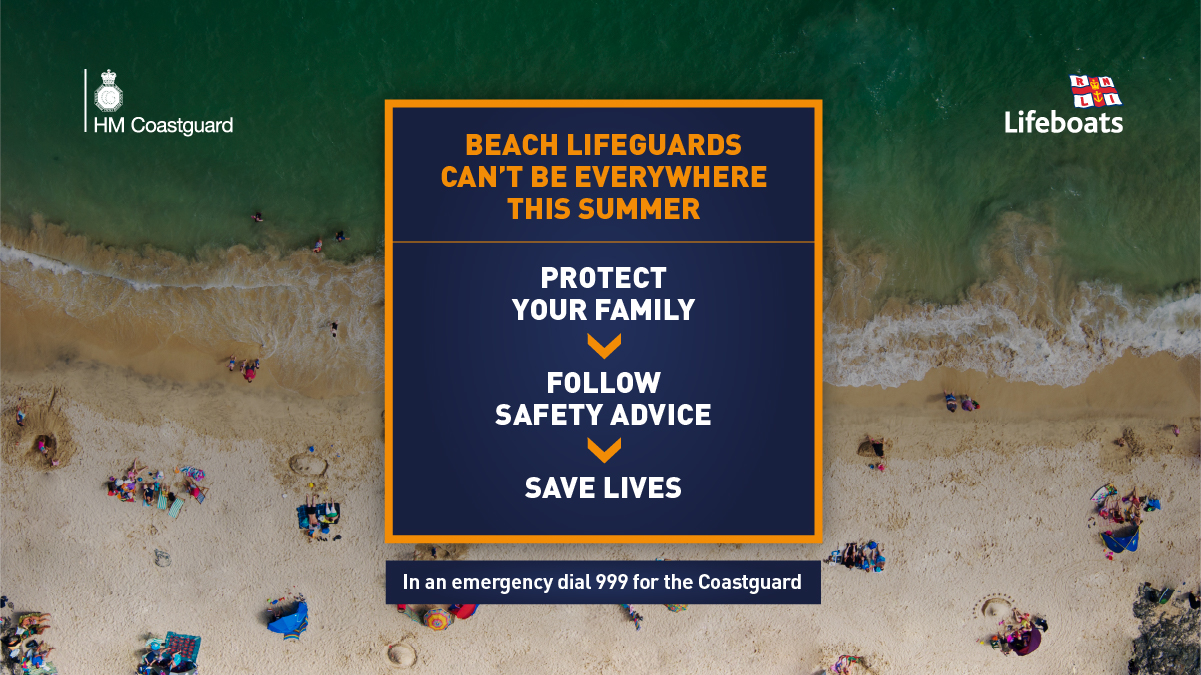 RNLI lifeguards can't be everywhere this summer; protect your family, follow safety advice, save lives.