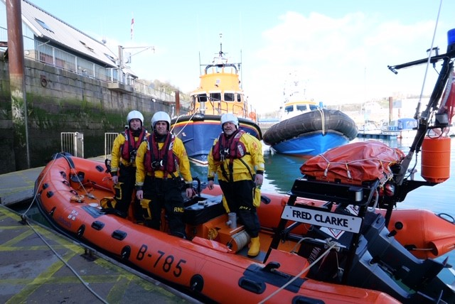 The crew of the Littlestone RNLI Lifeboat station pictured on their lifeboat