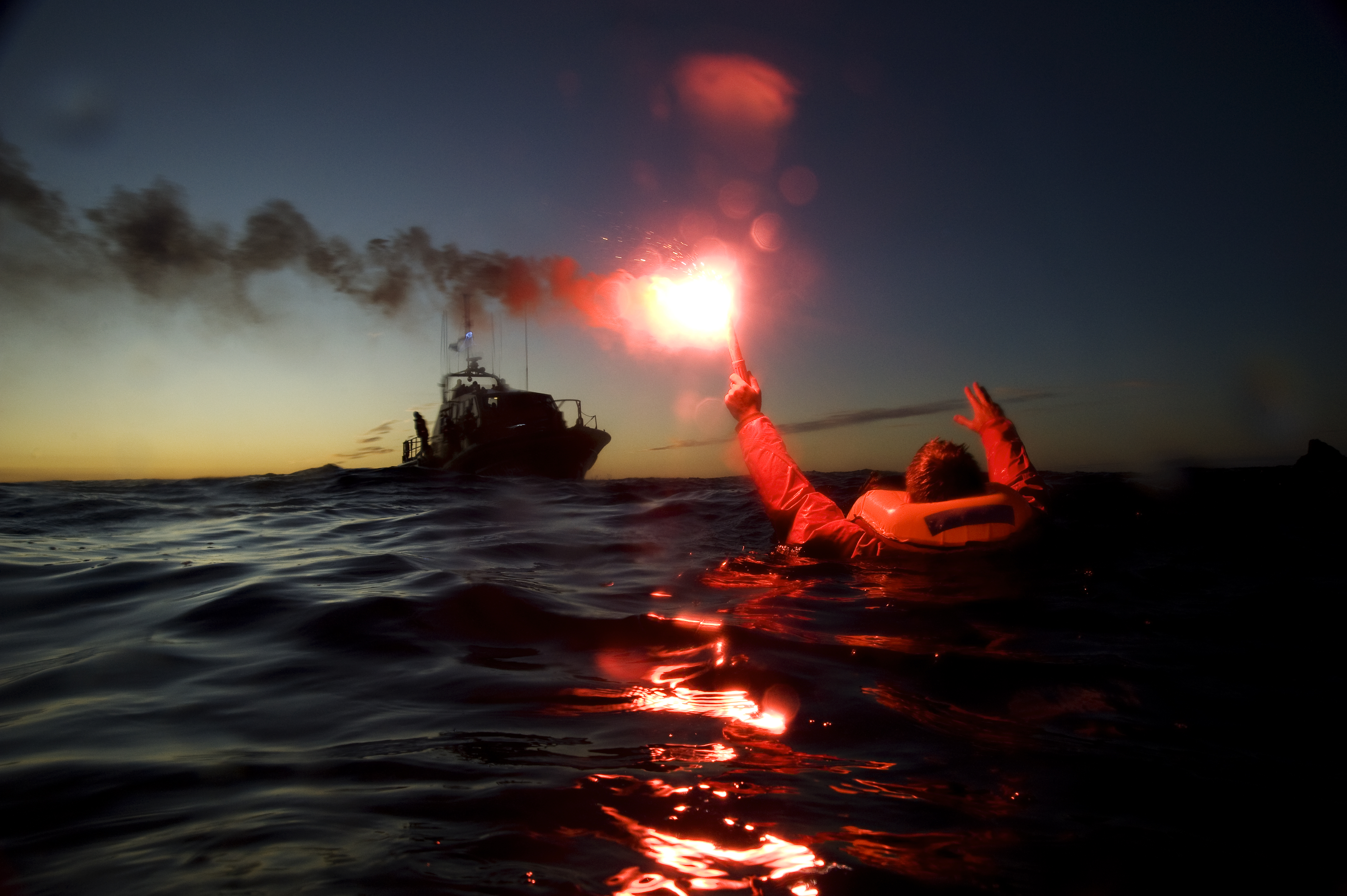 File photo of flare in the water