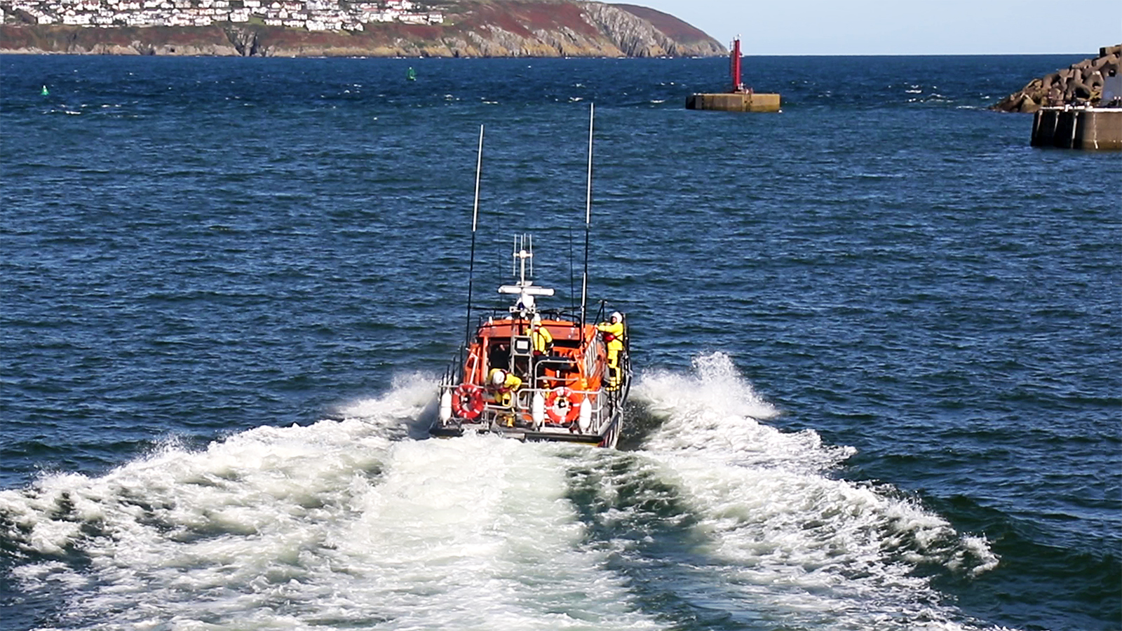 Launch of Douglas all-weather lifeboat, Marine Engineer