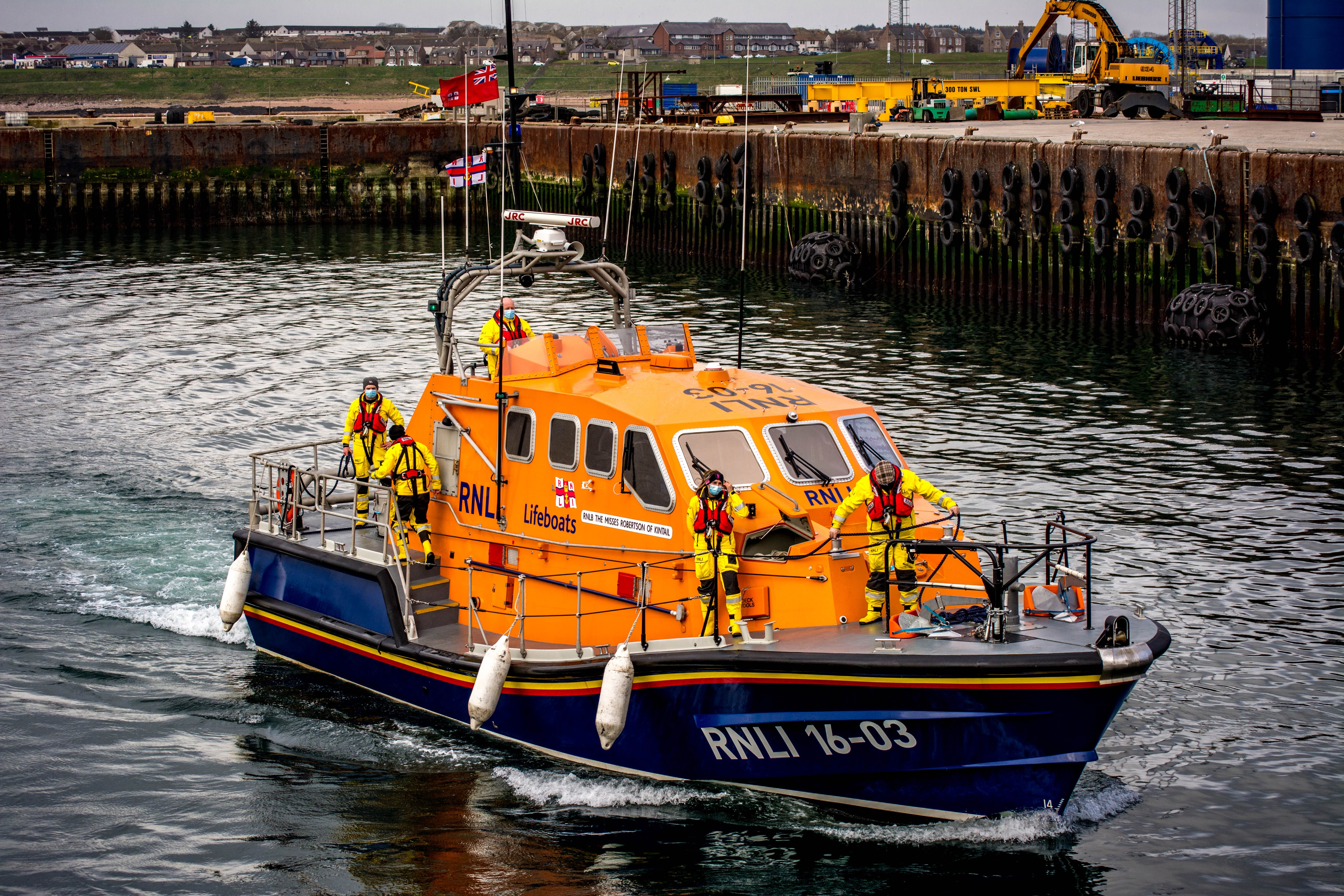 The Peterhead lifeboat 'The Misses Robertson of Kintail'.