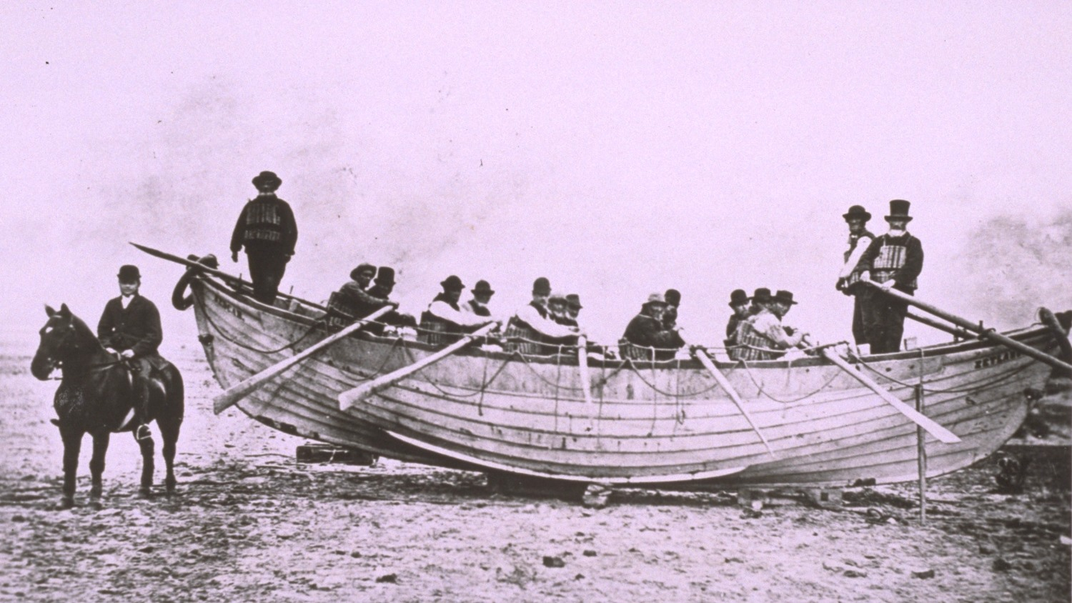 The oldest surviving lifeboat, the Zetland, at Redcar in 1802