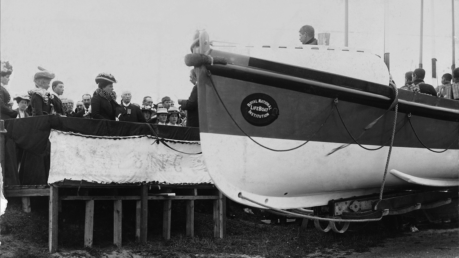 Princess Mary of Battenburg attending the naming ceremony of RNLI lifeboat Queen Victoria in 1887
