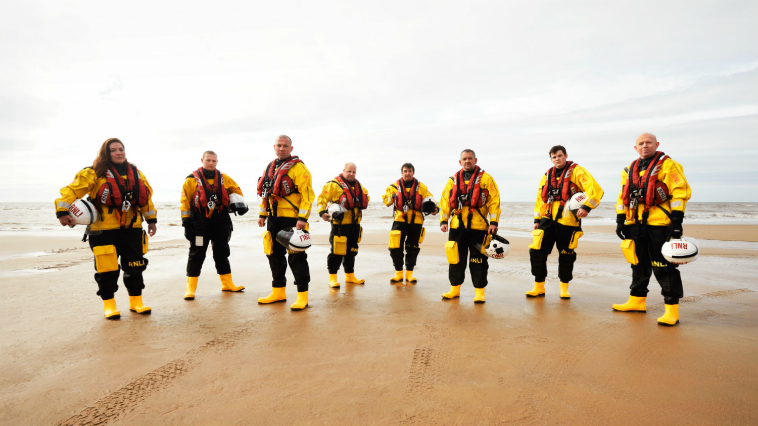 Group shot of RNLI crew members