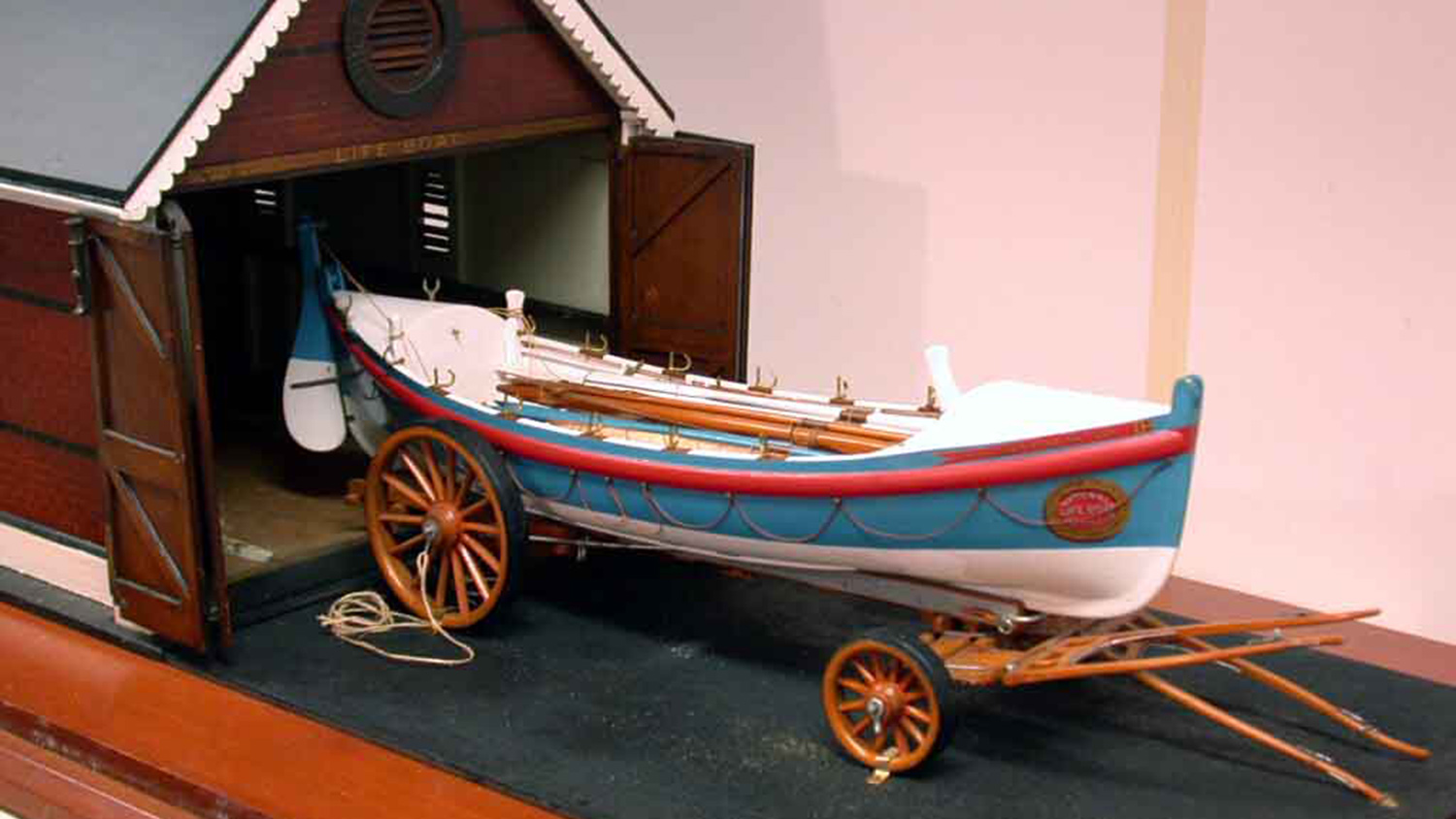 Model of Clovelly RNLI's self-righting pulling and sailing lifeboat, Alexander and Matilda (Boetefeur) from the RNLI historic collections at Poole
