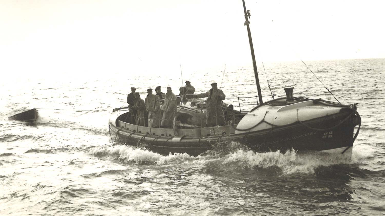 Walmer lifeboat Charles Dibdin at sea, 1940