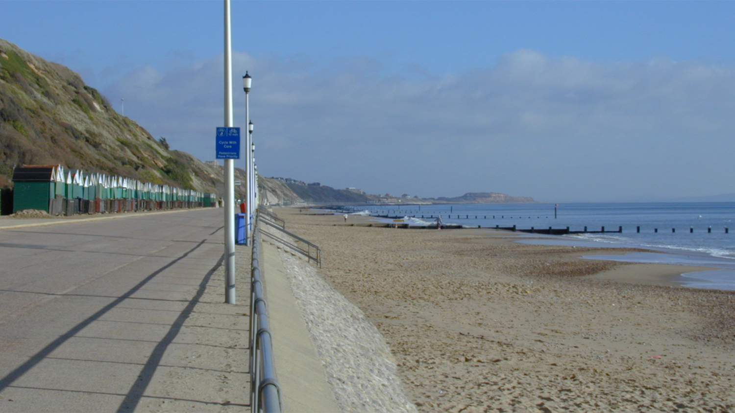 Alum Chine Beach at Bournemouth in Dorset is an RNLI lifeguarded beach.