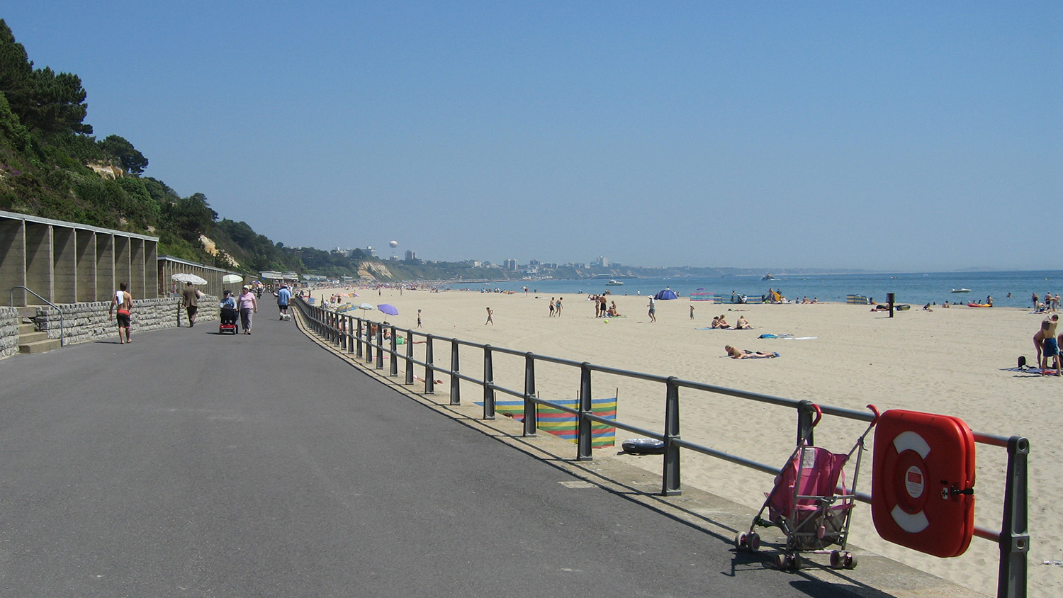 Canford Cliffs Beach at Poole in Dorset is an RNLI lifeguarded beach.