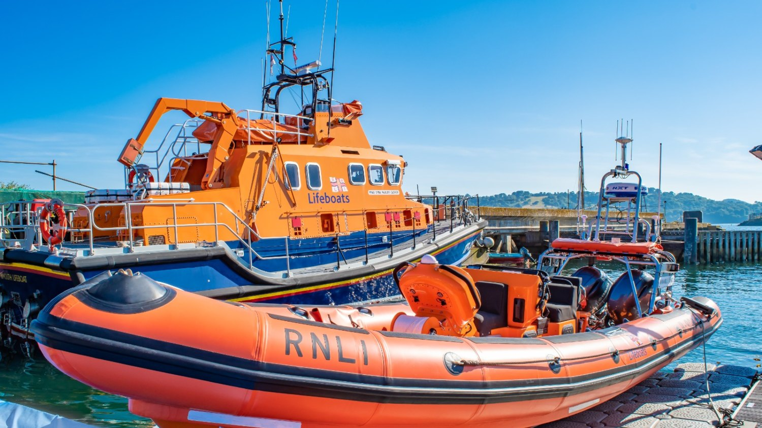 Plymouth's lifeboats on the water