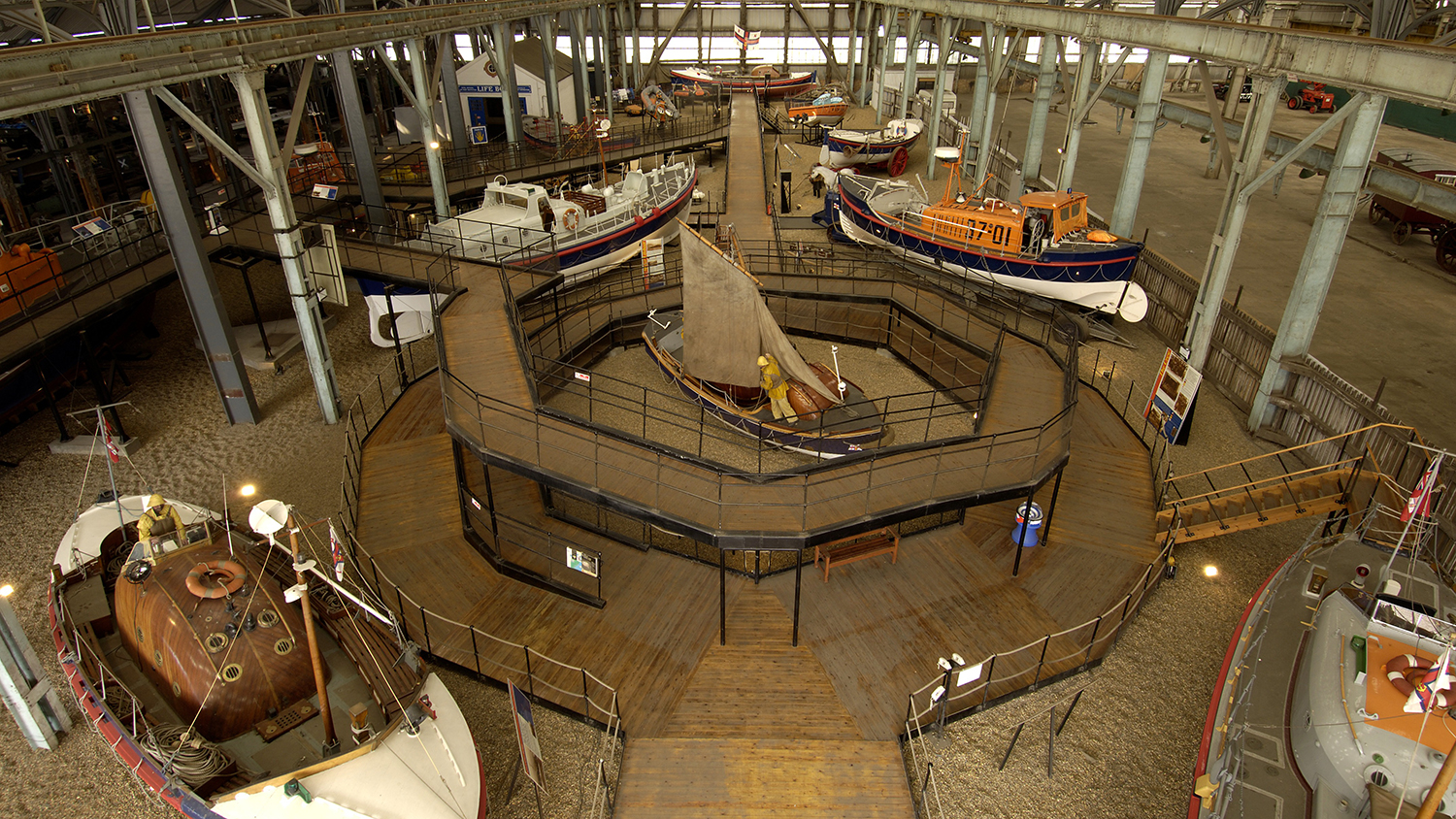 The RNLI Historic Lifeboat Collection at the Historic Dockyard in Chatham, Kent