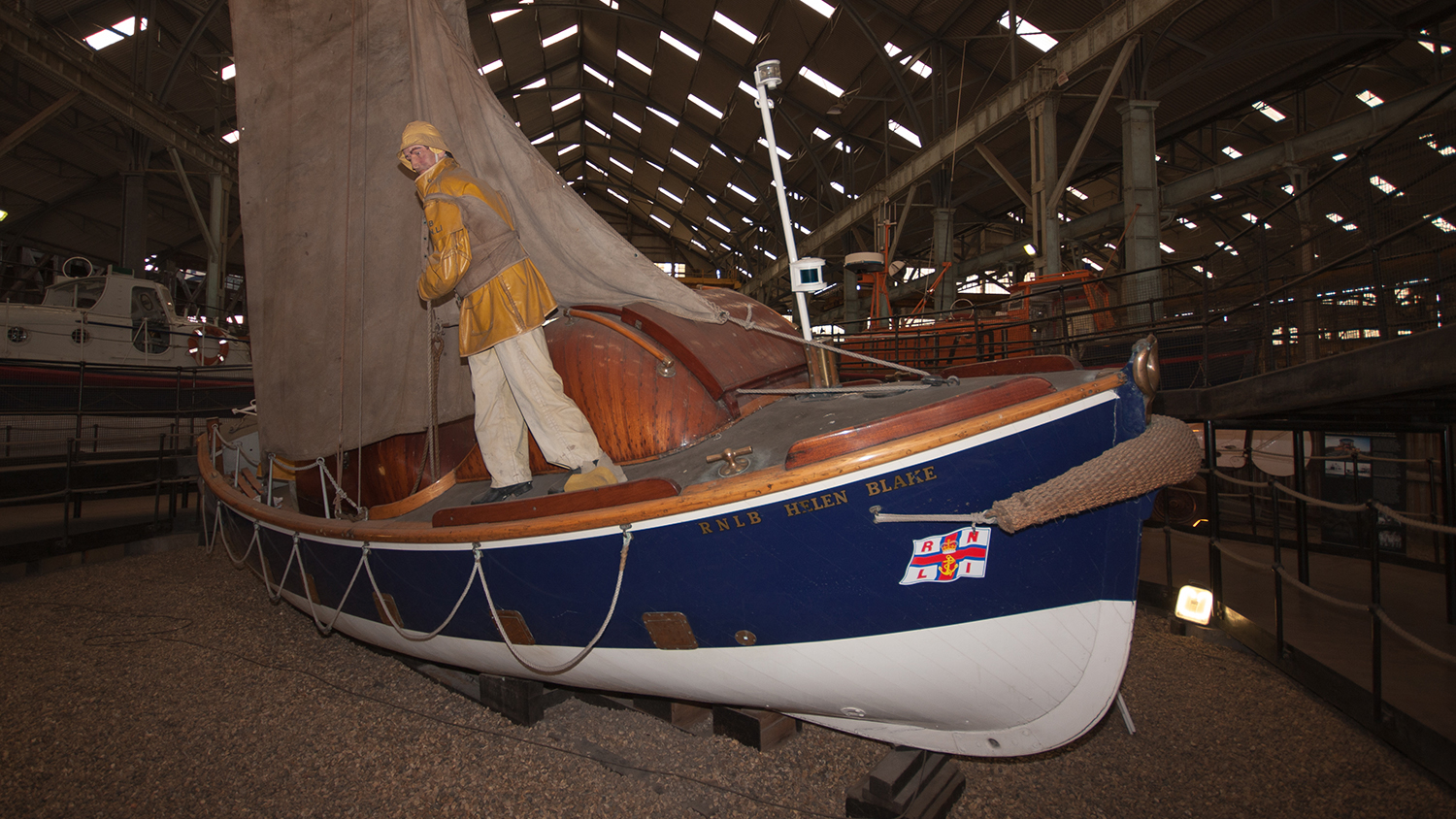 Helen Blake lifeboat at The Historic Lifeboat Collection in Chatham, Kent.