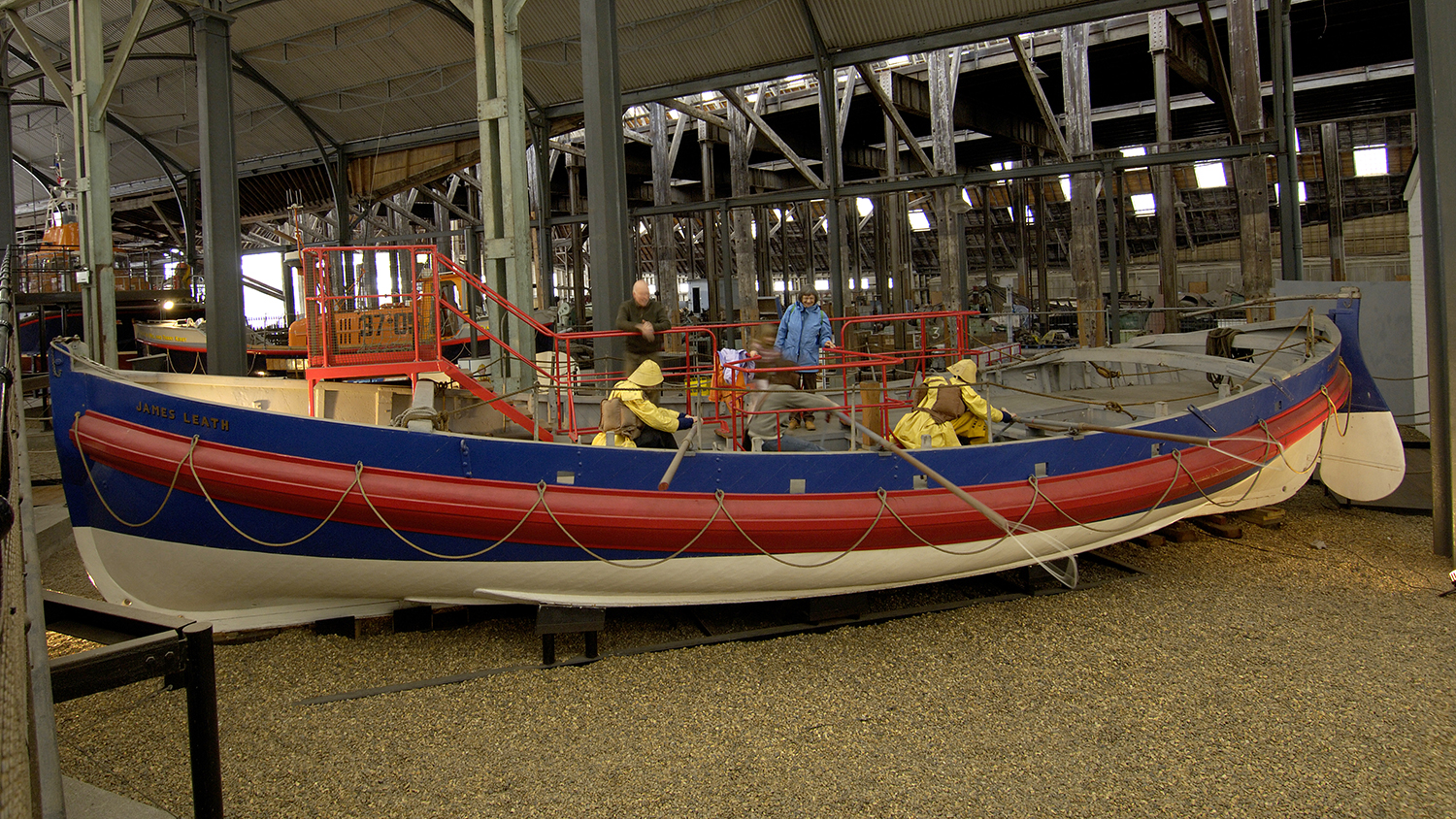 James Leath lifeboat at The Historic Lifeboat Collection in Chatham, Kent.