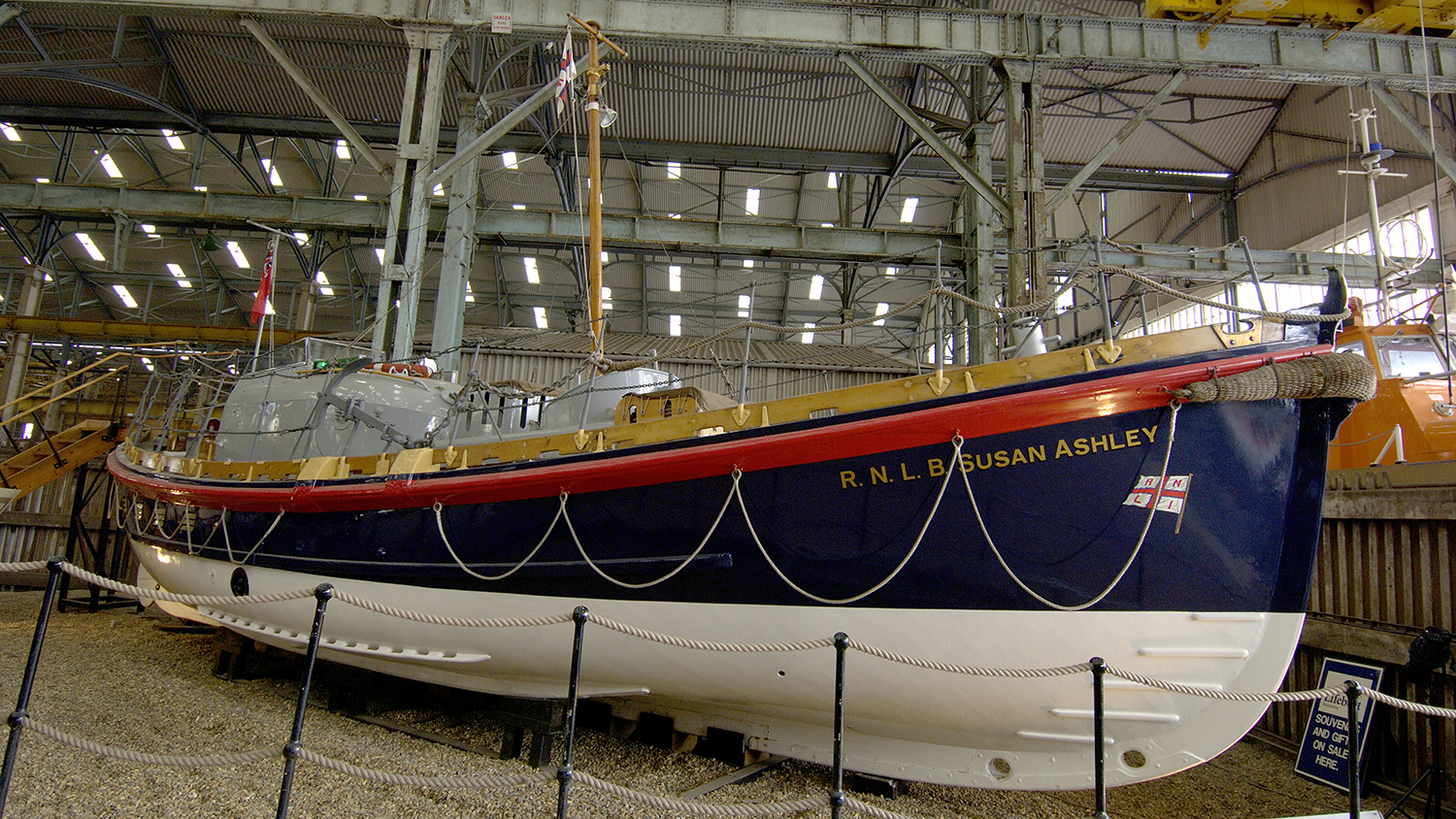 Susan Ashley lifeboat at The Historic Lifeboat Collection in Chatham, Kent.