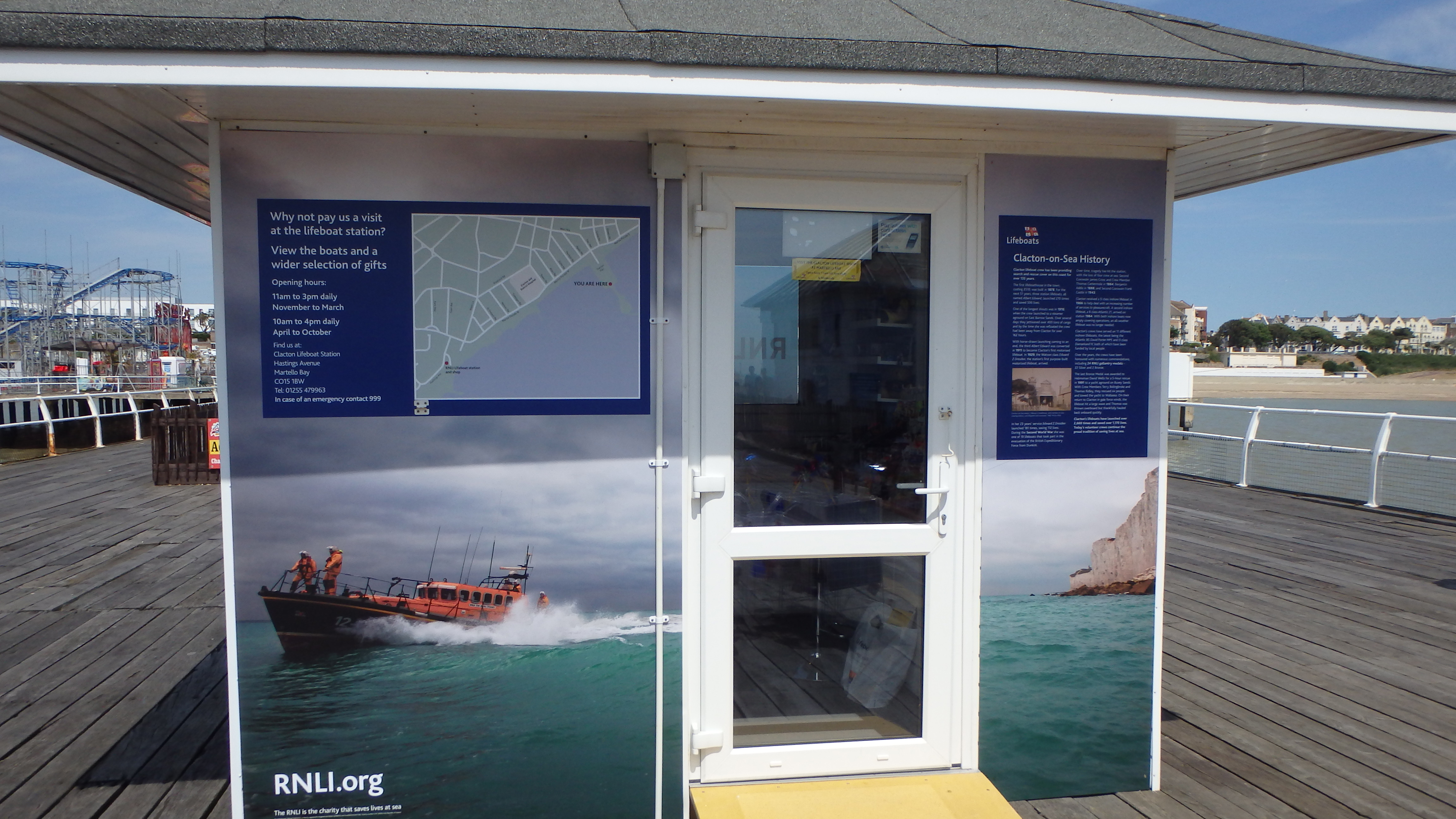 Buy RNLI gifts and souvenirs from our Clacton Pier shop and help save lives at sea.