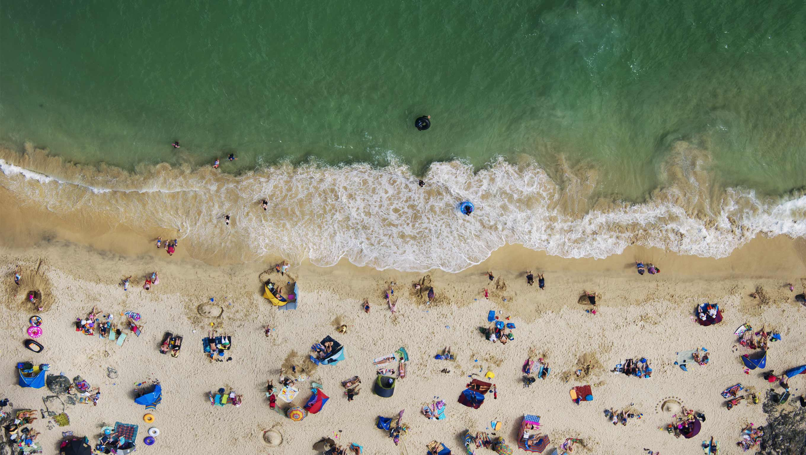 Aerial view of a beach by Nigel Millard