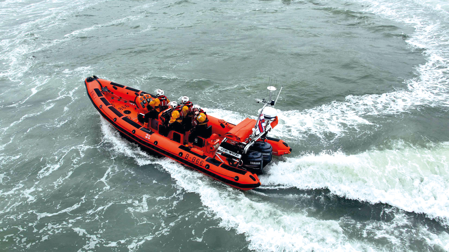 Skerries Atlantic 85 inshore lifeboat Louis Simson at sea.