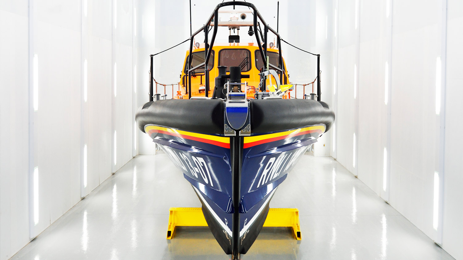 One of our relief Shannons, Reg, in our All-Weather Lifeboat Centre