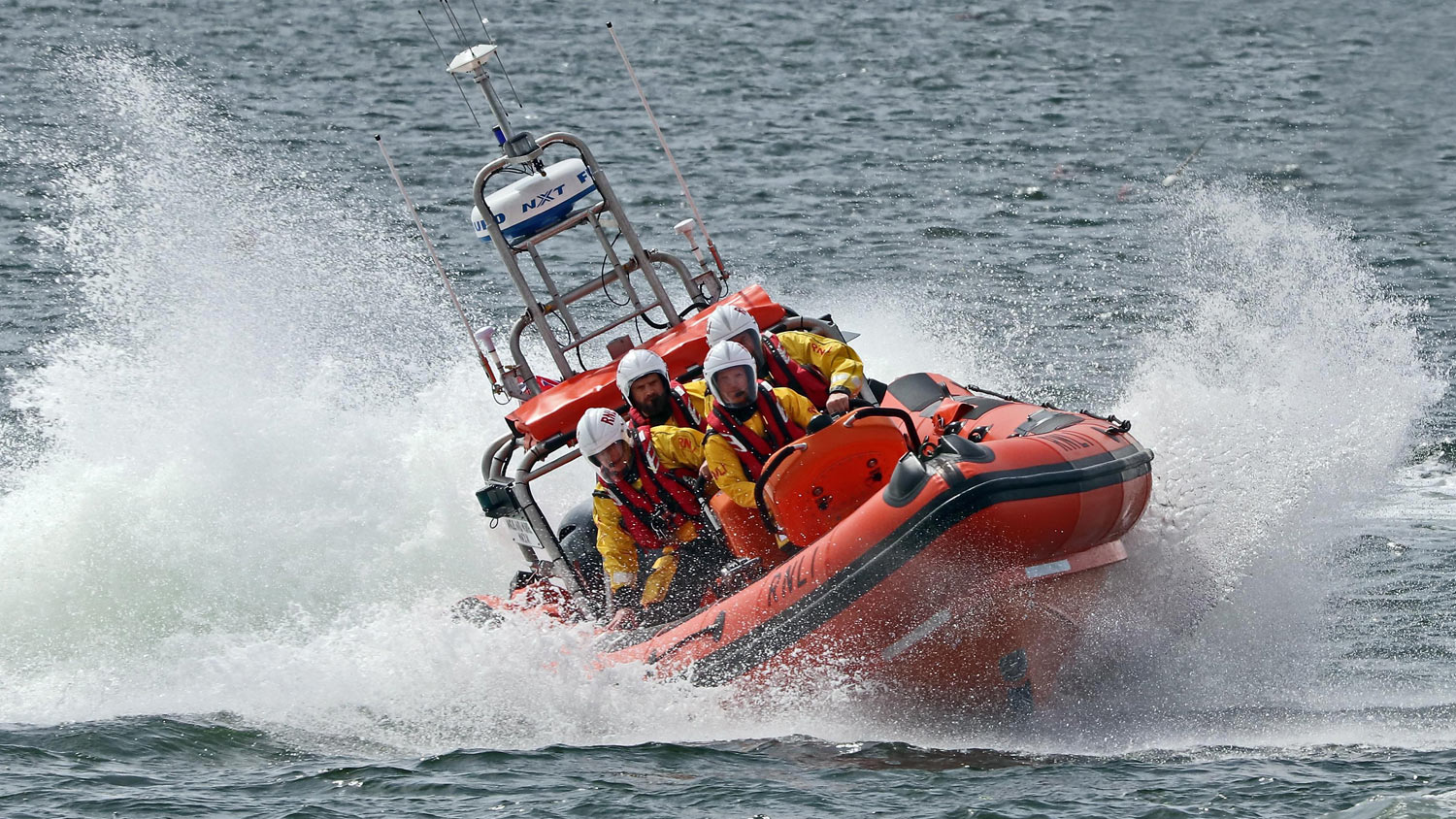 Helensburgh's B class lifeboat at sea