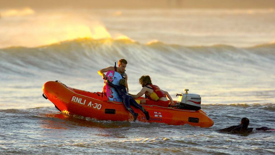 Bantham: The family dragged out to sea