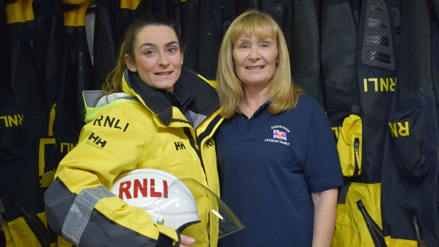 Anstruther Crew Member Louise Whiteman with her mum Cath