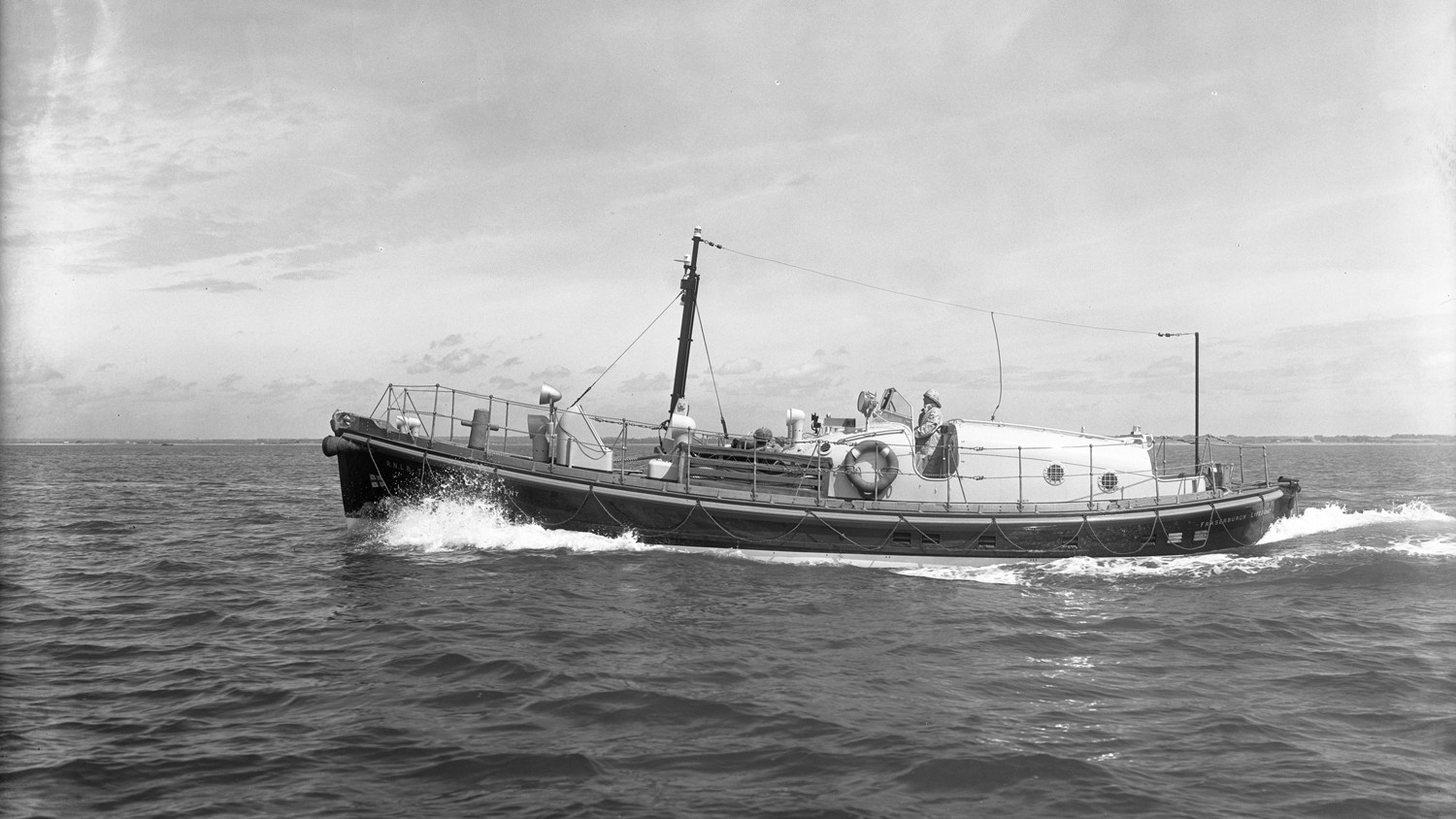 In calmer waters before the tragedy, the lifeboat Duchess of Kent