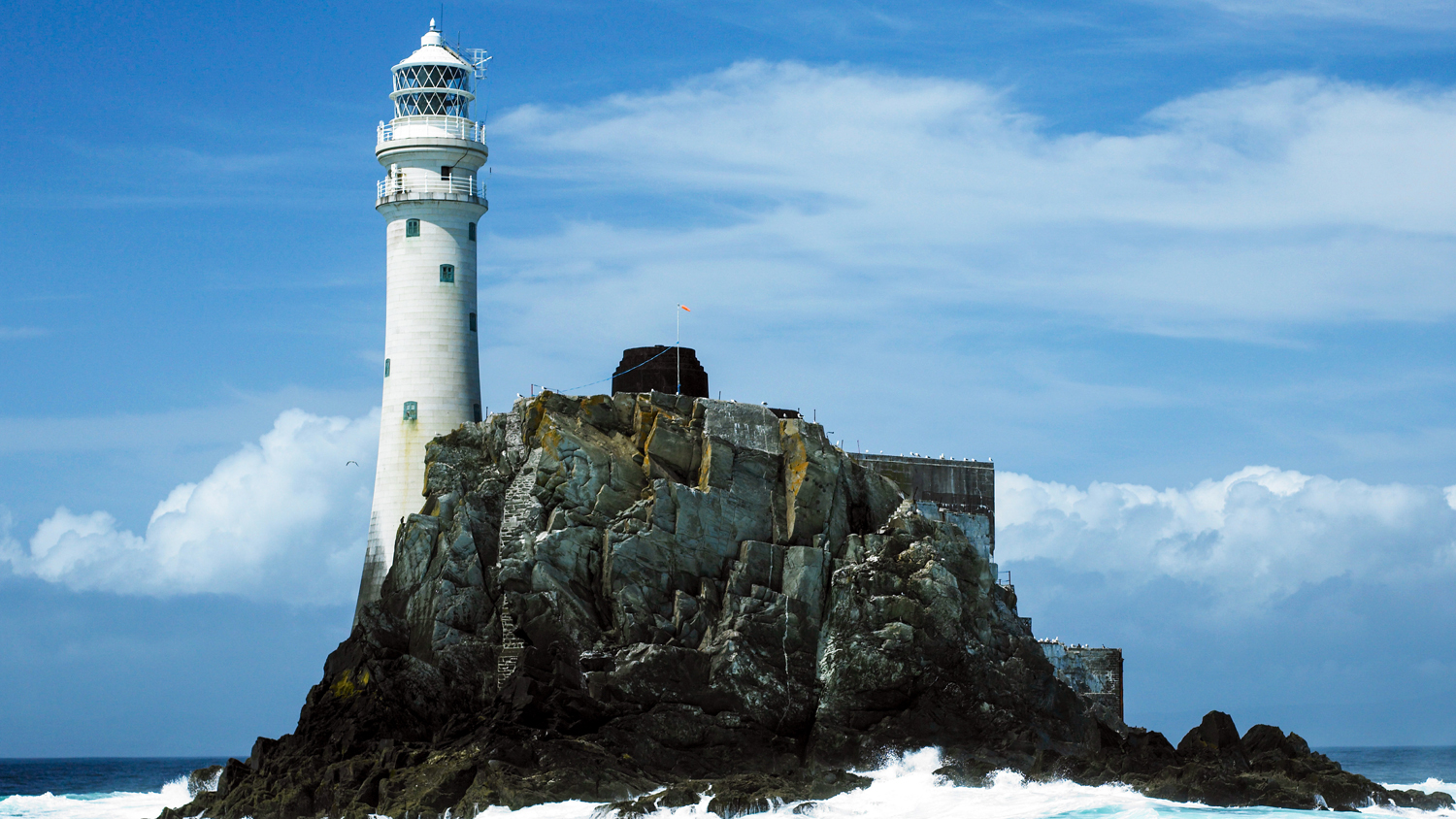 The furthest point in the race, the iconic Fastnet Rock
