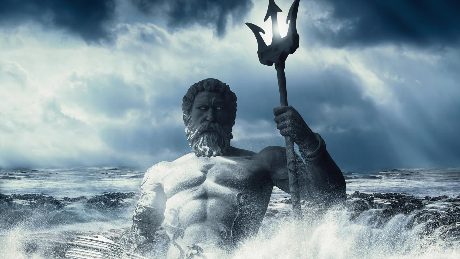 Poseidon rising from the sea
