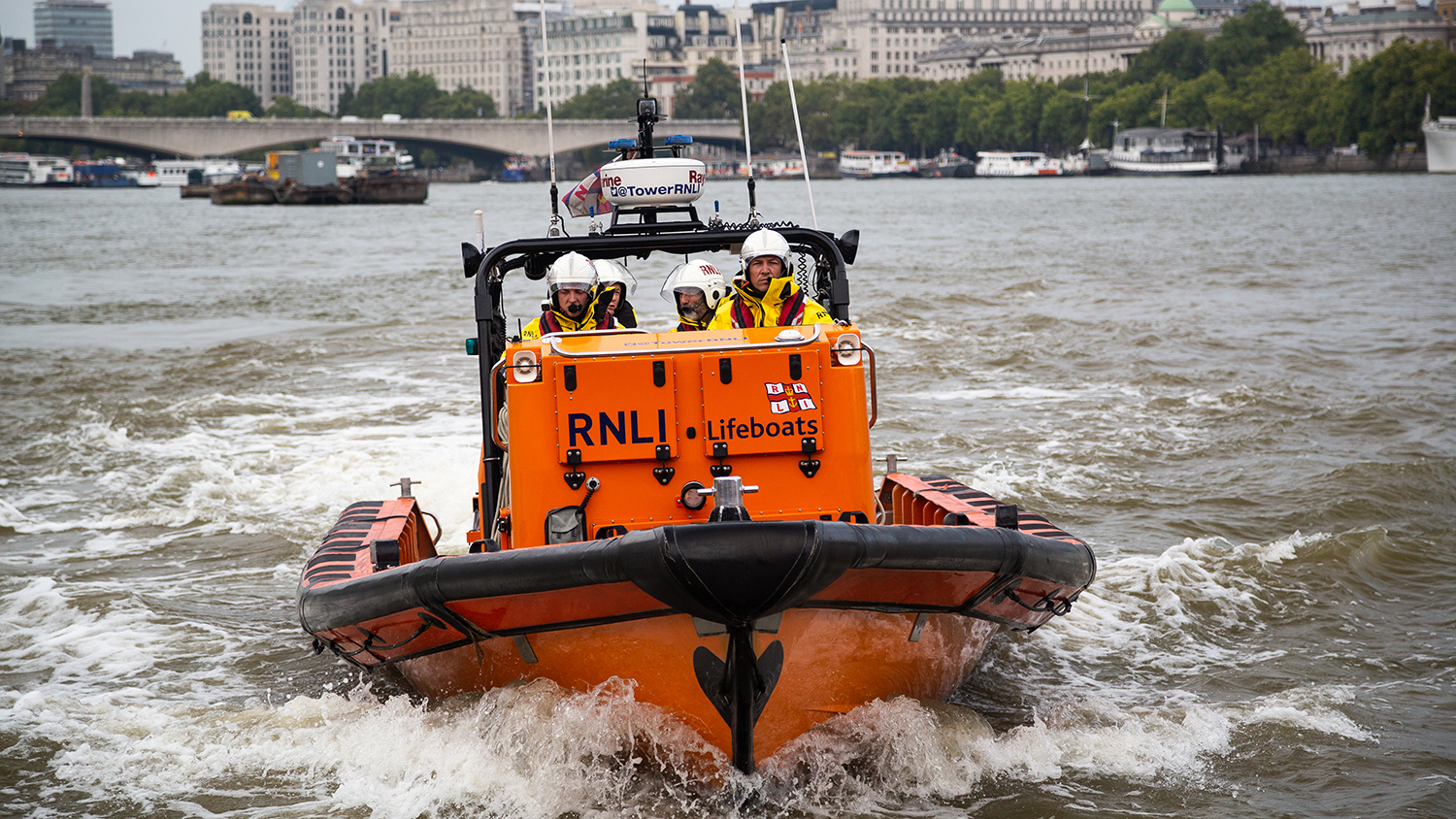 Adapting to changing times: our E class inshore lifeboat was specially designed for London's busy River Thames